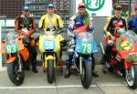 Ryan McCay (2nd from left) after coming 2nd in the Newcomers B Race.