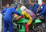 Steven Linsdell in the pits at the TT Grandstand.