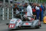 Wally Saunders/Bruce Moore at the TT Grandstand, Douglas.