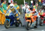 James Kirby (number 36) at Start Line, Douglas.
