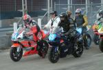Martin Powell (number 69) at the Practice Start Line, Douglas.