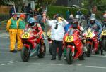 Dave Jones (76) at the Start Line, Douglas.