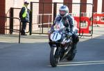 Roy Lawrence at the TT Grandstand, Douglas.