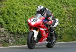 Michael Dunlop leaving Tower Bends, Ramsey.