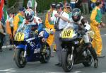 David White (number 118) at Start Line, Douglas.