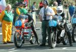 Derek Whalley (on right) at Start Line, Douglas.