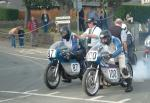Stephen Smith (87) at the Practice Start Line, Douglas.