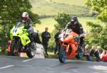 Ian Armstrong (16) at Ballaugh Bridge.