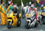 Alan Marshall (number 39) at Start Line, Douglas.