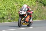 Ian Hutchinson leaving Tower Bends, Ramsey.