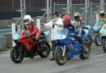 Andy Lovett (number 56) at the Practice Start Line, Douglas.