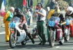 Alec Whitwell (number 28) at Start Line, Douglas.