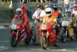 Chris Clark (number 77) at Start Line, Douglas.