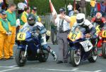 Gary Fenwick (number 42) at Start Line, Douglas.