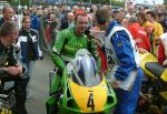 Alan Jackson after the Senior Manx Grand Prix 2004.