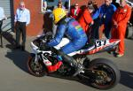 Victor Gilmore at the TT Grandstand, Douglas.
