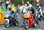 Matt Bailey (number 44) at Start Line, Douglas.