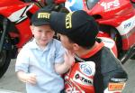 John McGuinness with his son.