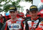 Jason Griffiths (left) with John McGuinness.