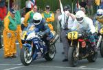 Dean Harrison (number 31) at Start Line, Douglas.