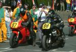 Geoff Smale (number 88) at Start Line, Douglas.