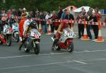 Alan Bennie (number 24) leaving Start Line, Douglas.