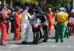 Dean Silvester leaving the Start Line, Douglas.