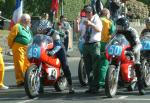 Bernie Wright (number 49) at Start Line, Douglas.