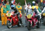 John Burrows (number 30) at Start Line, Douglas.