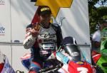 Bruce Anstey in the winners' enclosure at the TT Grandstand.