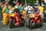 Marek Wieckowski (number 92) at Start Line, Douglas.