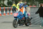 Peter Hindley during practice, leaving the Grandstand, Douglas.