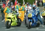 Mike Minns (number 105) at Start Line, Douglas.