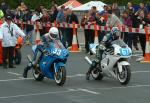 Nigel Beattie (number 33) leaving Start Line, Douglas.