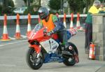Tony Rainford during practice, leaving the Grandstand, Douglas.