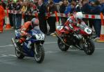 Tony Moss (number 55) leaving Start Line, Douglas.