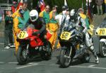 Declan Lynch (number 68) at Start Line, Douglas.