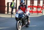James Muir at the TT Grandstand, Douglas.