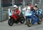 Gordon Taylor (number 40) at the Practice Start Line, Douglas.