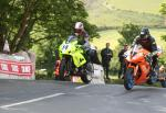Rob Frost (14) at Ballaugh Bridge.