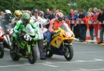 Andy Jackson at the TT Grandstand, Douglas.