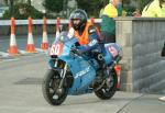 Tom Robinson during practice, leaving the Grandstand, Douglas.