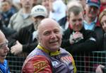 Steven Linsdell in the winners enclosure at the TT Grandstand.