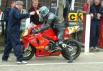 Robert Mawdsley (49) in the pits, Douglas.