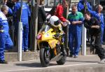 Ian Hutchinson leaving the pits, Douglas.