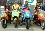 Stuart Sturrock (3rd from left) after winning Newcomers C.