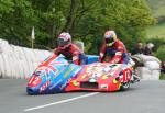 Tony Baker/Mark Hegarty at Ballaugh Bridge.