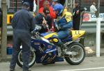 Alan Connor in the pits, Douglas.