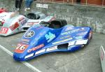 Craig Bloore/Christopher Bloore's sidecar at the TT Grandstand, Douglas.