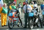 Denis Gallagher (left) at Start Line, Douglas.